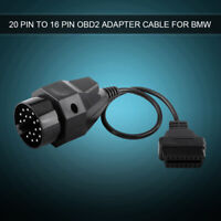 For BMW E39 E46 E53 ABS 20 Pin to 16 Pin OBD2 Adapter Connector Scanner Cable