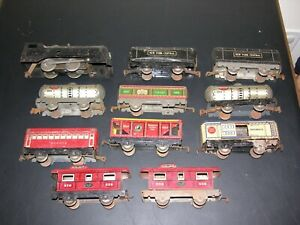 Vintage LOT Wind Up Marx Tin Toy Train Engine New York Central Lines Commodore