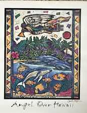 Carol Hagan ANGEL OVER HAWAII limited edition print 16 x 20 lithograph signed