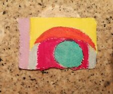 ABSTRACT 6 ORIGINAL MINI PAPER ACRYLIC PAINTING NIGEL WATERS SIGNED