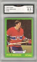1973-74 Topps #186 Peter Mahovlich | Graded NM/MT+ | Montreal Canadiens