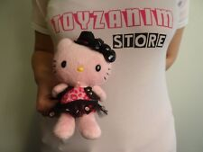Hello Kitty -  Peluche Léopard Rose Robe Noire 17 cm 2010 Sanrio Import Japon