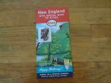 1962 ESSO Map New England with Special Maps of Cities