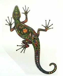 Color Bügeltransfer Bügelbild Applikation kleine Eidechse Gecko Salamander Echse