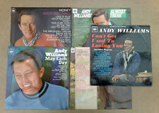LOT 5 X SUPERBE ORIGINAL / Early GB rare stéréo ANDY WILLIAMS LP 'S