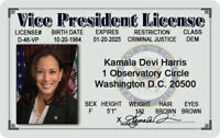 Kamala Harris Vice President MAGNET License Novelty ID Presidential Joe Biden