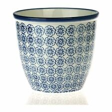 Plant Flower Pot. Indoor, Outdoor Garden Planter - Blue Flower Print