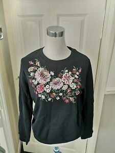 Dorothy Perkins Floral Sweatshirt Jumper Size UK 12 BNWT