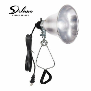 Simple Deluxe Clamp Lamp Light with 5.5-Inch Aluminum Reflector up to 60W E26