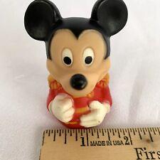 "Vintage 3"" Rubber Walt Disney Mickey Mouse Red Drum Major Uniform Finger Puppet"