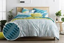 SHERIDAN ZOFIA QUEEN QUILT COVER SET IN SEA GREEN FULLY REVERSIBLE BRAND NEW