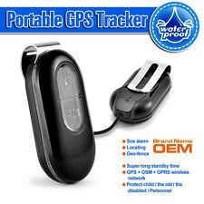 NEW Waterproof Mini GSM GPRS,Auto GPS tracker SOS Alarm for Kid Pet Dog Elders