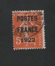 N°36 PREOBLITERE 5 C ORANGE SEMEUSE TYPE CAMEE POSTE FRANCE 1922