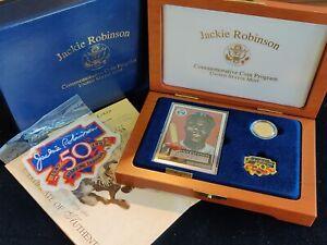 1997-W $5 Proof Jackie Robinson Commemorative Legacy Set - Box, COA, Patch & Pin