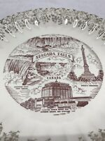 Niagara Falls Collectors Plate 22k Gold Vintage