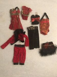 Barbie Red Clothing Lot