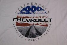 Chevrolet Performance Parts Racing Vehicles 100% Cotton T-Shirt White Men's Xl