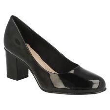 Standard Width (D) Wet look, Shiny Formal Heels for Women
