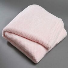 Pink Popcorn Fleece Super Soft Throw Rug Snuggle Blanket