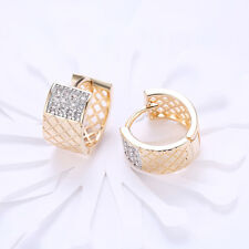 Micropave Huggie Hoop Hip Hop Earring H3G 18K Gold Iced Out Aaa Simulate Crystal