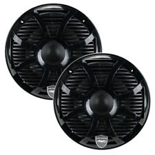 "Wet Sounds REVO 6 SW-B 6-1/2"" 2-Way Marine Audio Coaxial Speakers w/ Black LED"