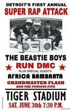 1980s Beastie Boys *Run Dmc* 11X17 Replica Concert Poster *Grandmaster Flash*