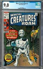 Where Creatures Roam #2 CGC 9.0 (Sep 1970, Marvel) White pages, Jack Kirby cover
