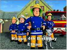"Fireman Sam A4 Cake Topper Personalised  Edible Wafer Paper 7.5"" by 10"""