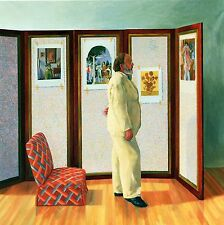 2 DAVID HOCKNEY PRINTS MAN IN WHITE SUIT VIEWS PICTURES & WALL OF PICTURES