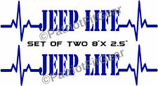 "Jeep Life,Set Of Two-8""x2.5"",Punisher,Jeep,Cherokee,Liberty,Wrangler,Vinyl Decal"