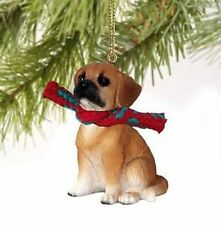 Puggle Tiny Miniature One Christmas Ornament Brown - Delightful!, New, Free Ship