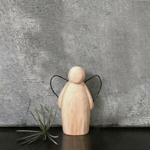 East of India Rustic Wooden Guardian Angel with Wire Wings