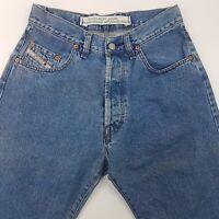Diesel TRADING Men Jeans W30 L30 Medium Wash Blue Regular Fit Straight High Rise