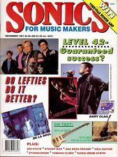 SONICS Music Makers Magazine, December 1991 Edition. Good.