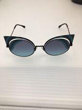 New Fendi HYPNOSHINE FF 0215/S LB/JF Black Azure/Violet Azure Sunglasses $765