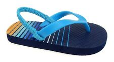 Walmart Brand Boys Toddler Flip Flop Shoes Size 5-6 Beach Shoes Blue Stripe