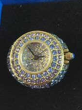 "Heidi Daus ""It's a Ringer"" Pave Crystal Ring Watch Size 7"