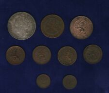 NETHERLANDS 1923 GULDEN, 1883 & 1887 2 1/2 CENTS, 1883, 1884, 1901, 1904 1 CENT