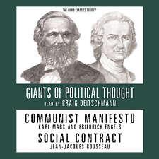 Communist Manifesto and Social Contract by Ralph Raico 2013 Unabridged CD 978147