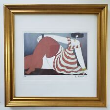 Michel Boulet Framed Signed Lithograph French Artist