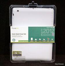 iPad 3rd, 4th* Gen - WHITE Semi Hard TPU Case Cover | Simplism TR-SHCIPD12-WT/EN