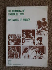 SCOUT BSA BOOK TAX ECONOMICS CHARITABLE GIVING 1979 PUBLICATION ARTHUR ANDERSEN