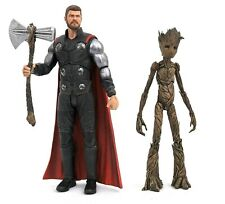 Marvel Select Avengers Infinity War Thor & Groot Action Figure