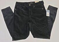 Universal Thread Women's Pants Black Velvet High Rise Skinny Slim Leg Fitted