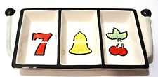 Fitz and Floyd Essentials Game Night Divided Snack Dish - Slot Machine Motif