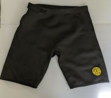 Golds Gym Neoprene Shorts Black Lifting Cycling Compression Sz L/Xl