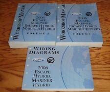 2006 Ford Escape Mariner Hybrid Shop Service Manual Vol 1 & 2 + Wiring Diagram