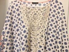 ENTRY Women's Batwing-Style Blouse MEDIUM - NWOT Beautiful Multi-Color Top!