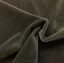 "JB MARTIN NEVADA PLUSH MOHAIR PEWTER GRAY WOOL VELVET LUXURY FABRIC BTY 55""W"