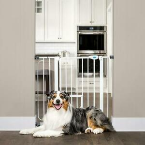 Carlson Extra Wide Walk Through Dog Gate with Door, Pressure Mount Kit & Wall Mo